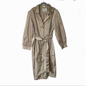 Vintage Totes Coat Packable Trench Raincoat 12P
